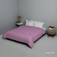 King Rabbit Bed Cover Double Motif Hansel - Pink Uk 230x230 cm