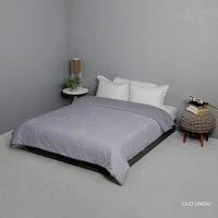 King Rabbit Bed Cover Double Motif Lilo - Ungu Uk 230x230 cm