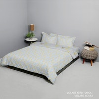 King Rabbit Set Bed Cover & Sprei Sarung Bantal Queen Motif Volare Mini - Toska Uk 160x200x40 cm