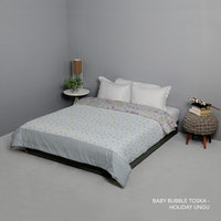 King Rabbit Bed Cover Double Motif Baby Bubble - Toska Uk 230x230 cm
