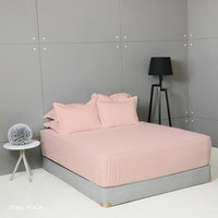 King Rabbit Set Sprei Sarung Bantal Queen Motif Jitaku - Peach Uk 160x200x40 cm