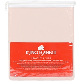 King Rabbit Set Sprei Sarung Bantal King Motif Jitaku - Peach Uk 180x200x40 cm