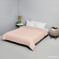 King Rabbit Bed Cover Double Motif Jitaku - Peach Uk 230x230 cm