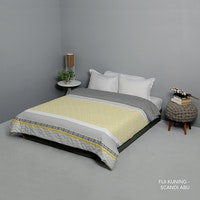 King Rabbit Bed Cover Double Motif Fiji - Kuning Uk 230x230 cm