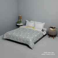 King Rabbit Bed Cover Double Motif Paris Mini - Abu Uk 230x230 cm