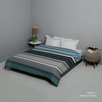 King Rabbit Bed Cover Double Motif Savoy - Toska Uk 230x230 cm