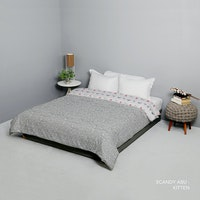King Rabbit Bed Cover Single Motif Scandi - Abu Uk 140x230 cm