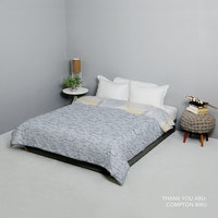 King Rabbit Bed Cover Single Motif Thank U - Abu Uk 140x230 cm