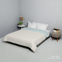 King Rabbit Bed Cover Double Motif Tivoli Mini - Coklat Uk 230x230 cm