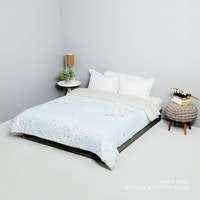 King Rabbit Bed Cover Double Motif Amari - Biru Uk 230x230 cm