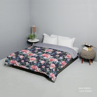 King Rabbit Bed Cover Double Motif Ava - Ungu Uk 230x230 cm