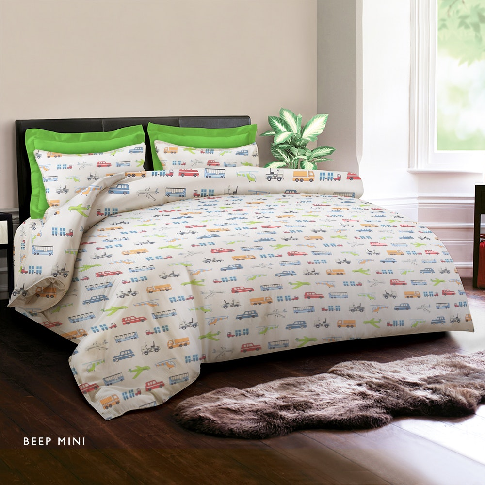 King Rabbit Set Sprei Beep Mini 120X200cm
