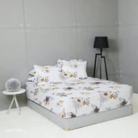 King Rabbit Set Sprei Sarung Bantal King Motif Rose Pascal - Abu Uk 180x200x40 cm