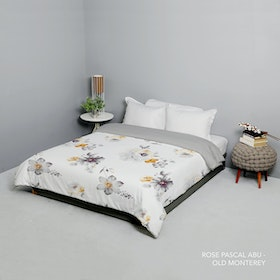King Rabbit Bed Cover Double Motif Rose Pascal - Abu Uk 230x230 cm