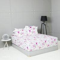 King Rabbit Set Sprei Sarung Bantal King Motif Ayumi - Pink Uk 180x200x40 cm
