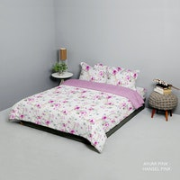 King Rabbit Bed Cover Double Motif Ayumi - Pink Uk 230x230 cm