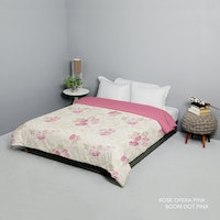 King Rabbit Bed Cover Double Motif Rose Opera Pink Uk 230x230 cm