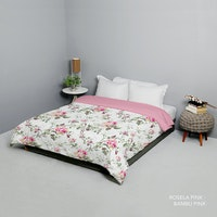 King Rabbit Bed Cover Double Motif Rosella Pink Uk 230x230 cm