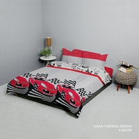 King Rabbit Set Bed Cover & Sprei Sarung Bantal Extra King Motif Gran Tourismo Uk 200x200x40 cm