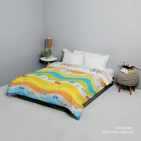 King Rabbit Bed Cover Double Motif Rainbow Uk 230x230 cm