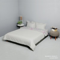 King Rabbit Set Bed Cover & Sprei Sarung Bantal Extra King Motif Bambu Berly Uk 200x200x40 cm