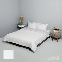 King Rabbit Bed Cover Single Motif Home Putih Uk 140x230 cm