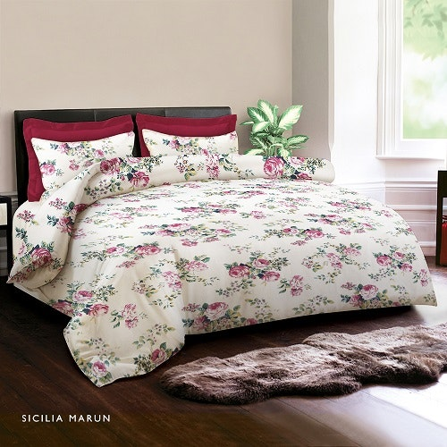King Rabbit Bed Cover Sicilia Marun 230x230cm