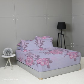 King Rabbit Set Sprei Mulbery Pink 100x200x40cm