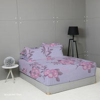 King Rabbit Set Sprei Mulbery Pink 180x200x40cm