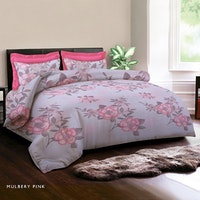 King Rabbit Bed Cover Mulbery Pink 230x230cm