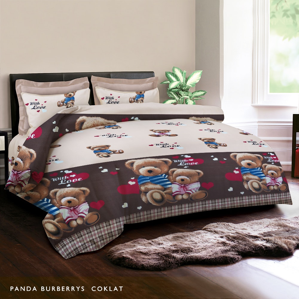 King Rabbit Panda Burberrys Bed Cover Double 230X230Cm