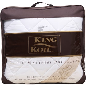 King Koil Mattress Protector Fitted Dacron Extra