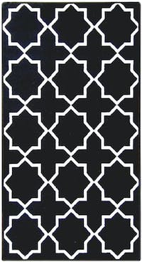 ARTSY Karpet Anti Slip 100X150cm Sweden Mix Col Black