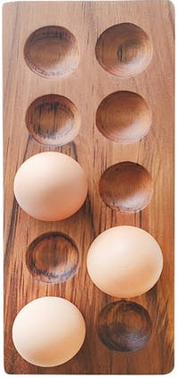 KUKI WOOD TAMA - Egg Holder 10 pcs