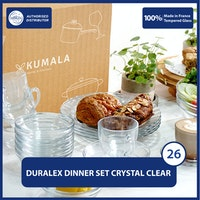 Duralex Parcel Piring Gelas Crystal Clear Set of 26 Pcs - With Box