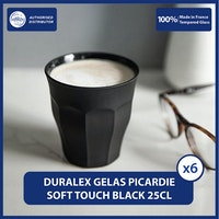 Duralex Picardie Soft Touch Tumbler 250 mL - Set of 6 -Tempered Glass