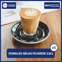 Duralex Picardie Clear Tumbler 220 ml Set of 6 [Tempered Glass]
