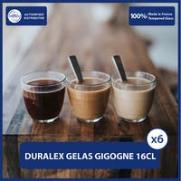 Duralex GIGOGNE Clear Tumbler 16 cl ( Tempered Glass ) - Set of 6