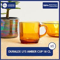 Duralex Amber Cup 180ml - Set of 6 Tempered Glass