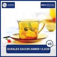 Duralex Amber Saucer 13.5cm - Set of 6 -Tempered Glass