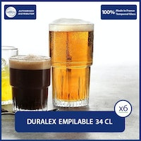 Duralex Empilable Clear Tumbler 34 cl ( Tempered Glass ) - Set of 6