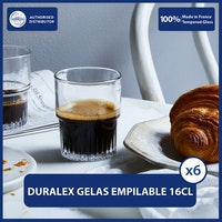 Duralex Empilable Clear Tumbler 16 cl ( Tempered Glass ) - Set of 6