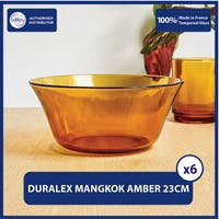 Duralex Mangkuk Sajian 23cm ( Tempered Glass ) - Set of 6