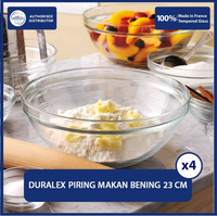 Duralex Mangkok Stackable 20.5 cm ( Tempered Glass ) - Set of 4 pcs