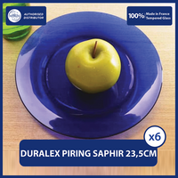 Duralex Piring Makan 23.5cm ( Tempered Glass ) - Set of 6