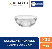 Duralex Mangkuk Sambel Stackable Bowl 7.5 cm (Set of 12 pcs)