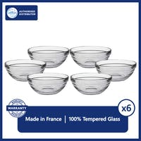 Duralex Mangkok Stackable 12 cm ( Tempered Glass ) - Set of 6 pcs