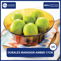 Duralex Lys Amber Table Bowl 17cm 910mL - Set of 6 Tempered Glass