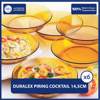 Duralex Piring Makan Cocktail 14.5cm ( Tempered Glass ) - Set of 6