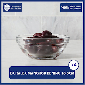 Duralex Mangkok / Piring Stackable Bowl 10.5 cm (Set of 4 pcs)